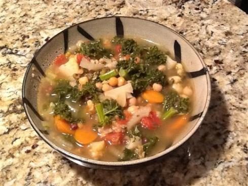 Chick pea and Kale Stew