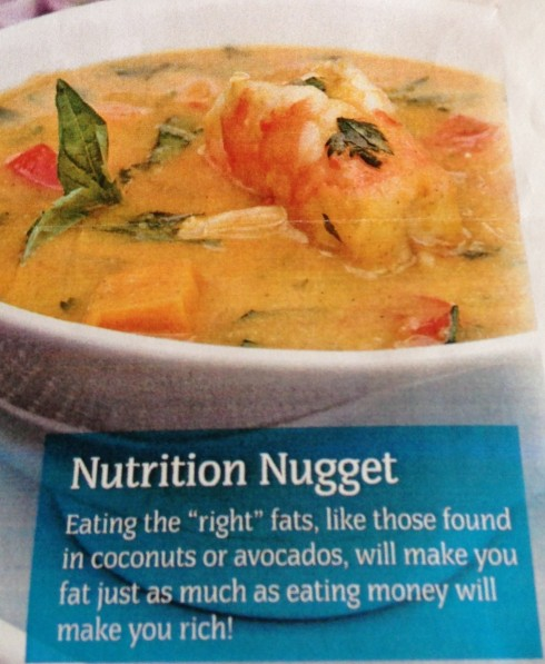 Sweet potato coconut shrimp soup