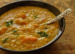 split pea sweet potato kale soup